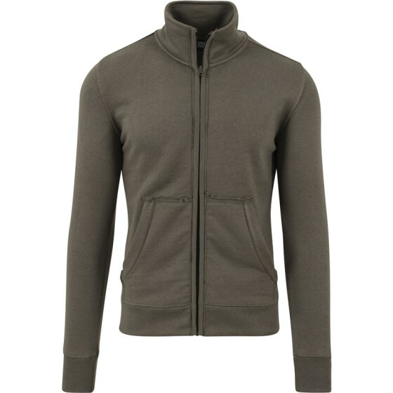 Urban Classics Loose Terry Zip Jacket, olive