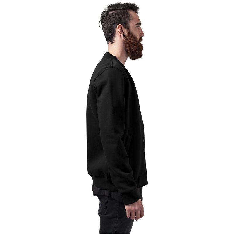 urban classics sweat bomber jacket black. Black Bedroom Furniture Sets. Home Design Ideas