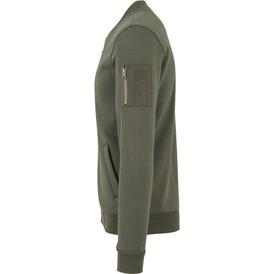 Urban Classics Sweat Bomber Jacket, olive