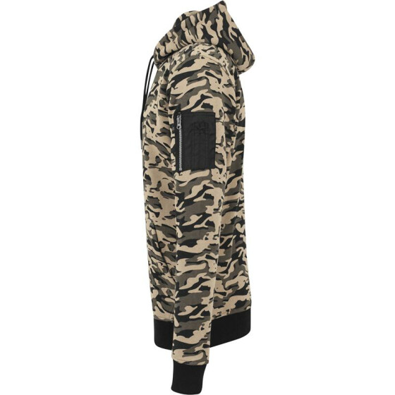 Urban Classics Sweat Camo Bomber Hoody, wood camo
