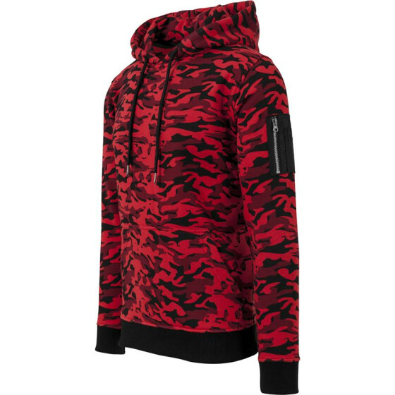 Urban Classics Sweat Camo Bomber Hoody, red camo