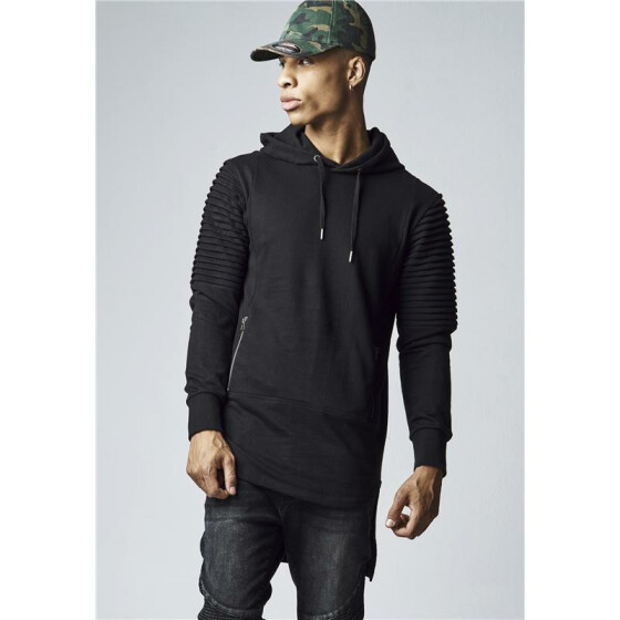 Urban Classics Pleat Sleeves Terry HiLo Hoody, black