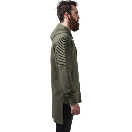 Urban Classics Pleat Sleeves Terry HiLo Hoody, olive