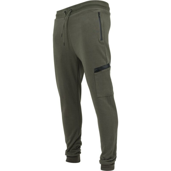 Urban Classics Athletic Interlock Sweatpants, olive