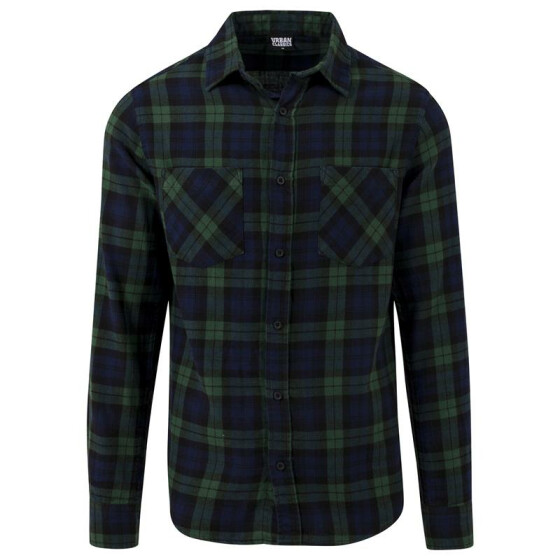 Urban Classics Checked Flanell Shirt 3, forest/nvy/blk