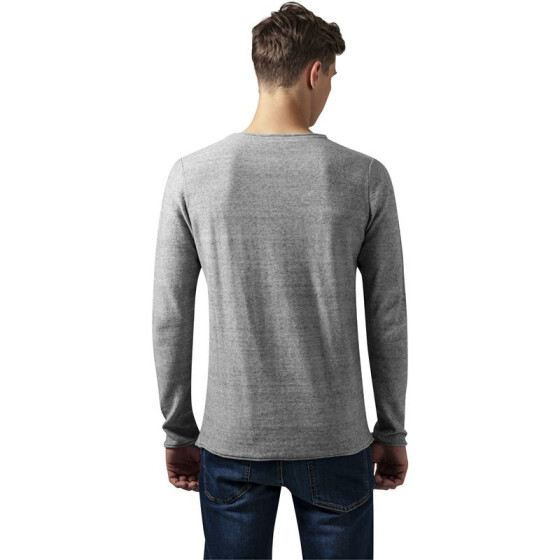 Urban Classics Fine Knit Melange Cotton Sweater, grey melange