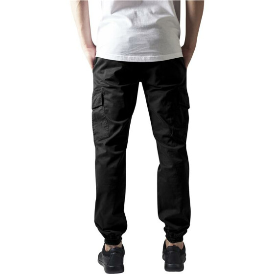 Urban Classics Washed Cargo Twill Jogging Pants, black