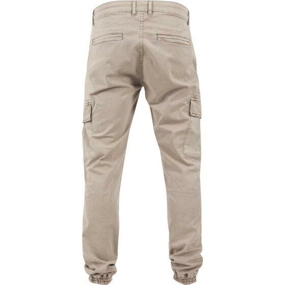 Urban Classics Washed Cargo Twill Jogging Pants, sand