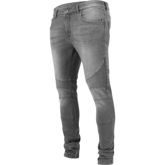 Urban Classics Slim Fit Biker Jeans, grey