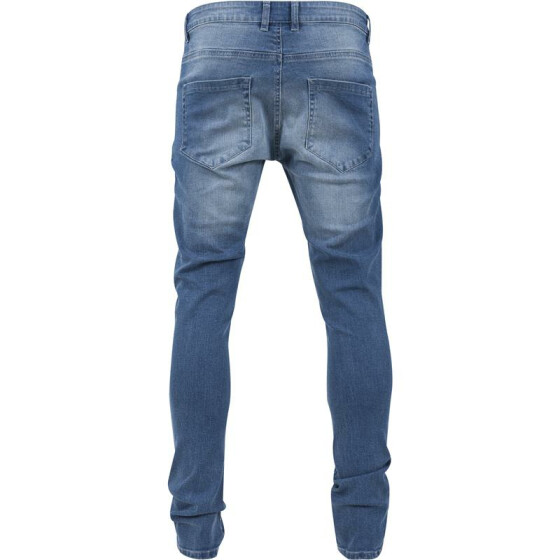 Urban Classics Slim Fit Biker Jeans, blue washed