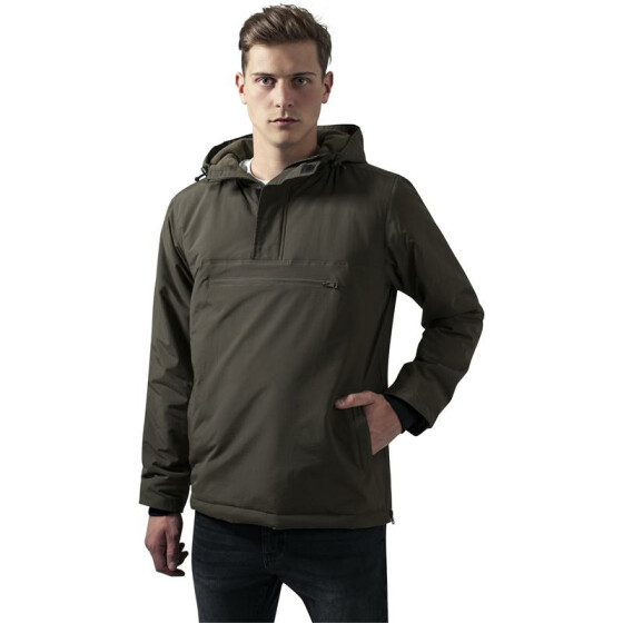 Urban Classics Padded Pull Over Jacket, olive