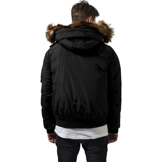 Urban Classics Hooded Heavy Bomber Jacket, black