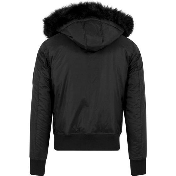 Urban Classics Hooded Basic Bomber Jacket, black