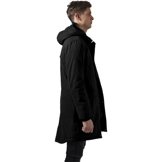 Urban Classics Cotton Peached Canvas Parka, black