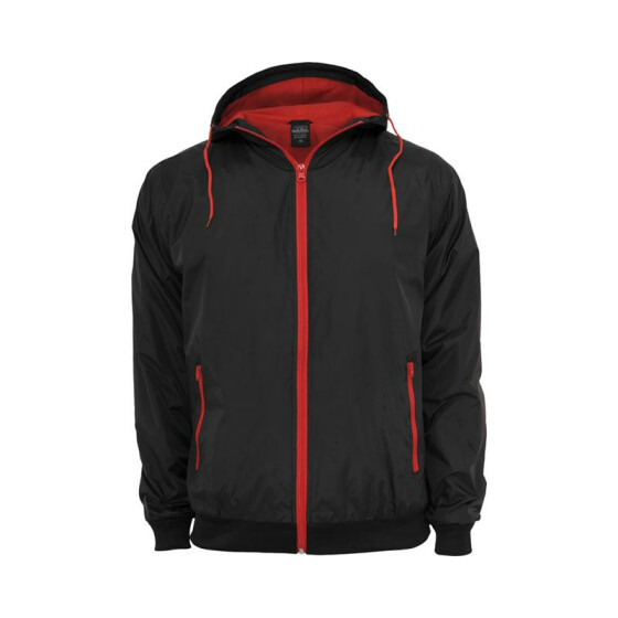 Urban Classics Contrast Windrunner, blk/red