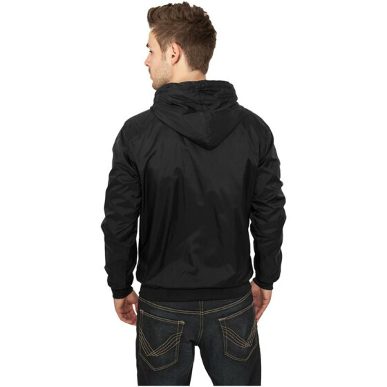 Urban Classics Contrast Windrunner, blk/wht