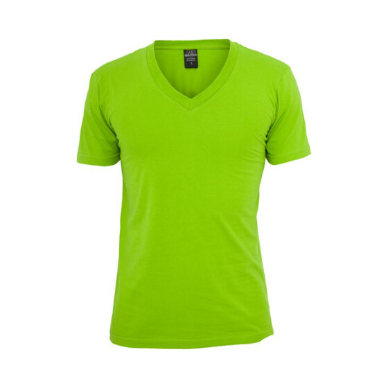 Urban Classics Basic V-Neck Tee, limegreen