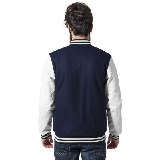 Urban Classics Oldschool College Jacket, nvy/wht