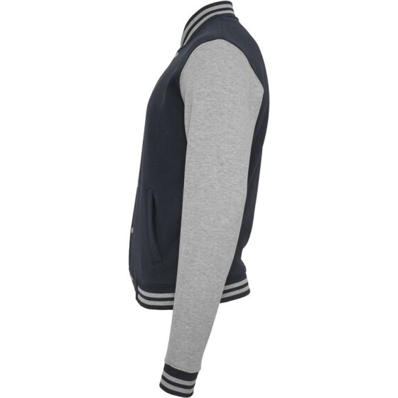 Urban Classics 2-tone College Sweatjacket, nvy/gry