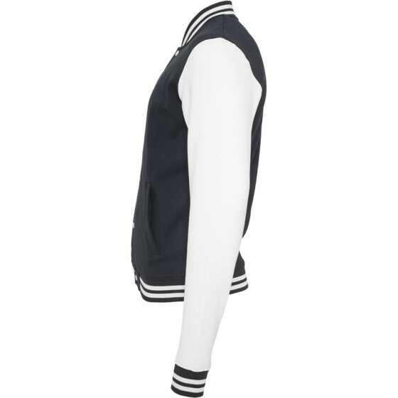 Urban Classics 2-tone College Sweatjacket, nvy/wht