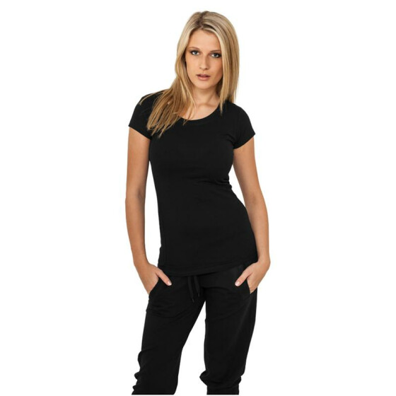 Urban Classics Ladies Basic Tee, black