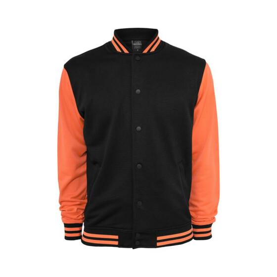 Urban Classics Neon College Jacket, blk/inf