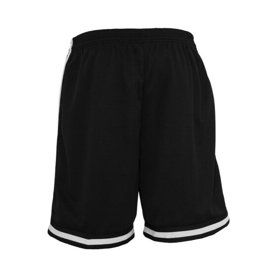 Urban Classics Stripes Mesh Shorts, blkblkwht