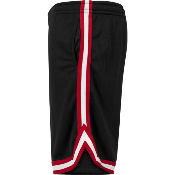 Urban Classics Stripes Mesh Shorts, blkredwht
