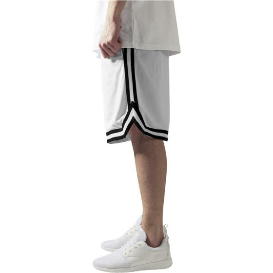 Urban Classics Stripes Mesh Shorts, whtblkwht