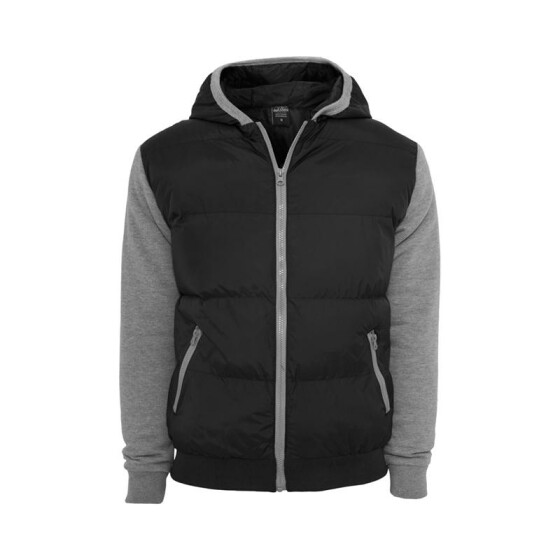 Urban Classics Sweat Nylon Bubble Zip Hoody, blk/gry