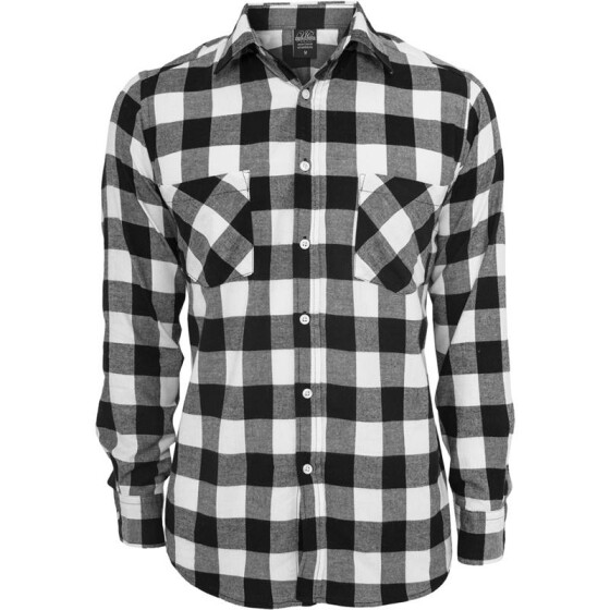 Urban Classics Checked Flanell Shirt, blk/wht