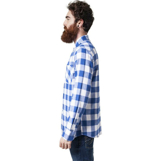 Urban Classics Checked Flanell Shirt, wht/roy