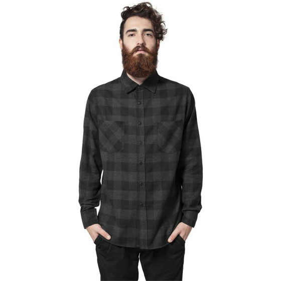 Urban Classics Checked Flanell Shirt, blk/cha