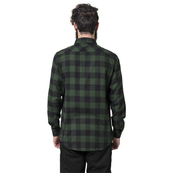 Urban Classics Checked Flanell Shirt, blk/forest