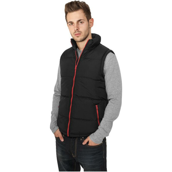 Urban Classics Contrast Bubble Vest, blk/red