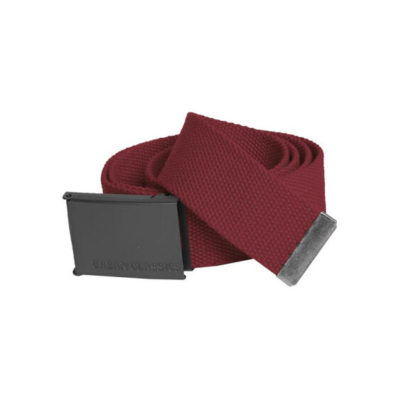 Urban Classics Canvas Belts, burgundy