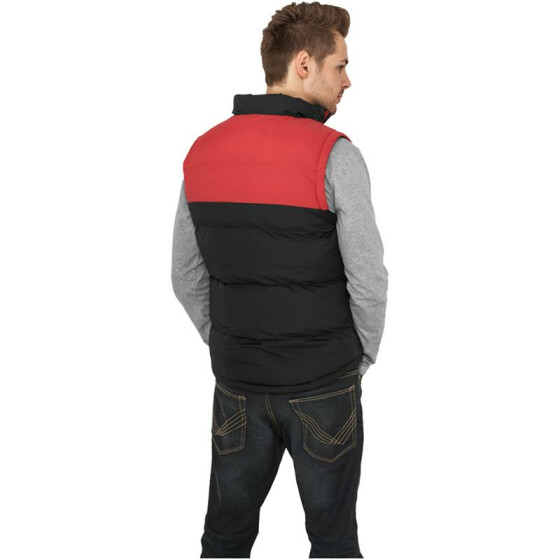 Urban Classics 2-tone Bubble Vest, blk/red