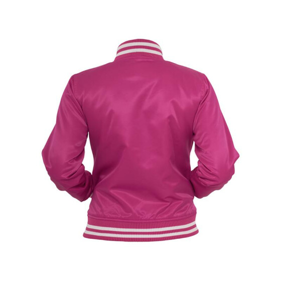 Urban Classics Ladies Shiny College Jacket, fus/wht