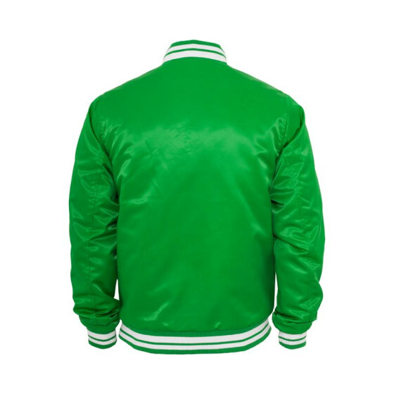 Urban Classics Mens Shiny College Jacket, cgr/wht