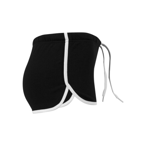 Urban Classics Ladies French Terry Hotpants, blk/wht