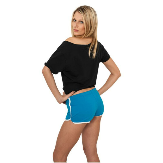 Urban Classics Ladies French Terry Hotpants, tur/wht