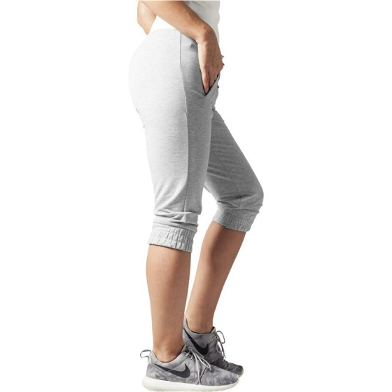 Urban Classics Ladies French Terry Capri, grey