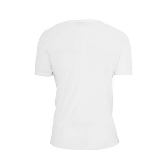 Urban Classics Slim 1by1 V-Neck Tee, white