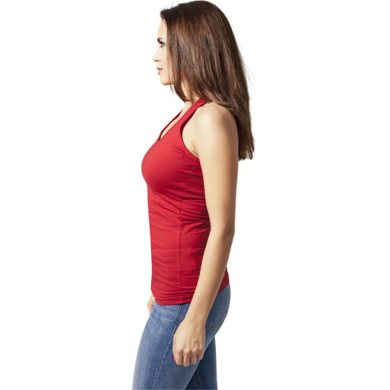 Urban Classics Ladies Neckholder Shirt, red