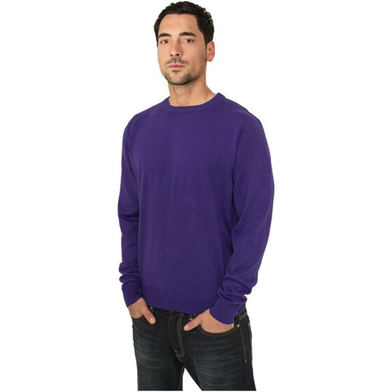 Urban Classics Knitted Crewneck, purple