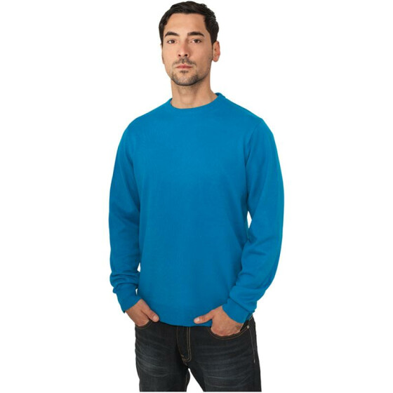 Urban Classics Knitted Crewneck, turquoise