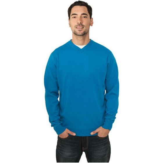 Urban Classics Knitted V-Neck, turquoise