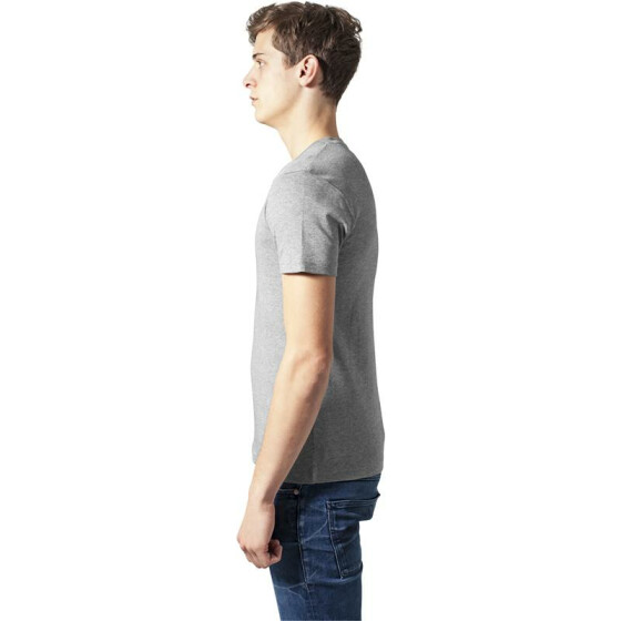Urban Classics Slim 1by1 Henley Tee, grey