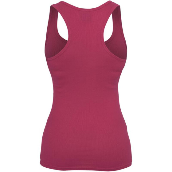 Urban Classics Ladies Button Tanktop, fuchsia