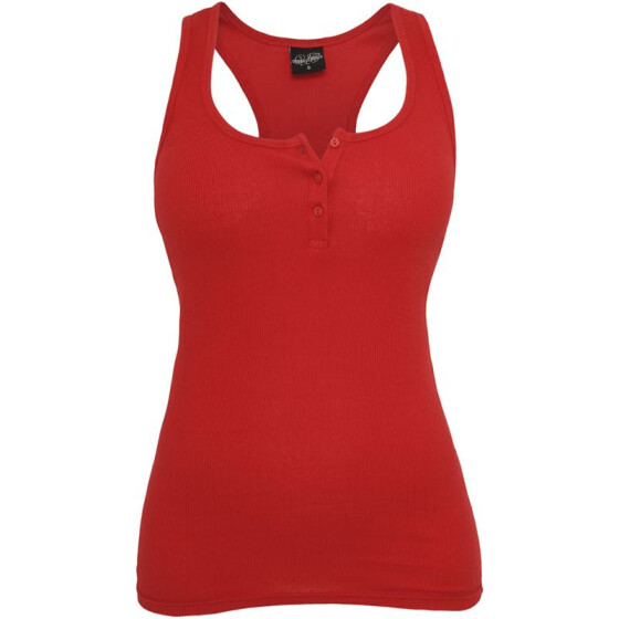 Urban Classics Ladies Button Tanktop, red